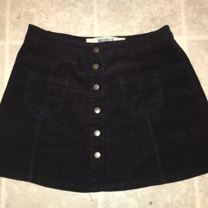 Courdoroy Button Up Skirt